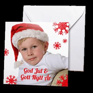 Julkort 15x15cm 01